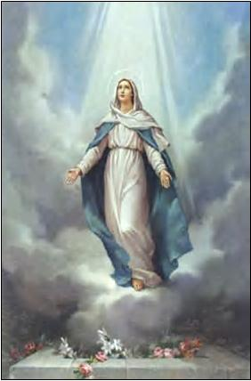 Image result for The assumption of the blessed virgin mary